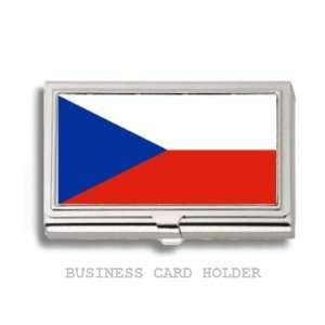 Czech Republic Flag Business Card Holder Case Everything