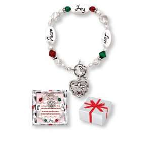 Peace Joy Love RED & Green Christmas Holiday Expressively