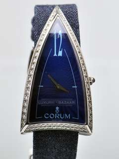 Corum Ladies Blue Rocket   Stainless Steel and Diamonds