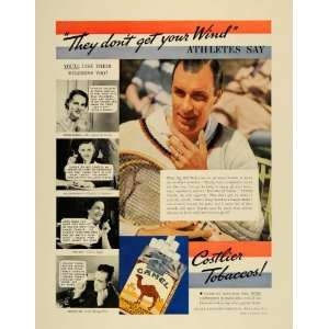1935 Ad Bill Tilden Tennis Iron Man Camels Cigarettes