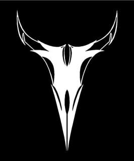 TRIBAL BULL SKULL Vinyl Decal 5 x 7 (11 Colors)