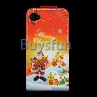 Father Christmas Style FLIP VERTICAL LEATHER CASE COVER For APPLE