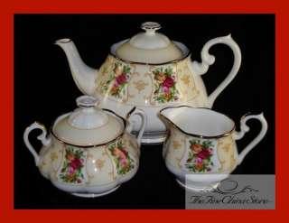 Royal Albert Rose Cameo 3 Three Piece Tea Set