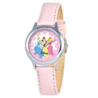 Disney Kids Princess Time Teacher Watch in Pink Leather Watches