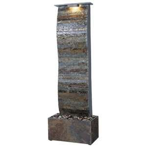 Kenroy Home Curvature Slate Floor Fountain Garden Center