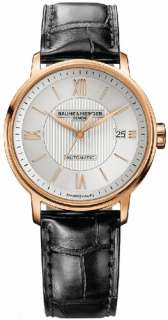 & MERCIER CLASSIMA EXECUTIVES 18K SOLID ROSE GOLD AUTO WATCH 10037