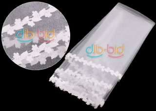 4M Cathedral Wedding Bridal Veil White Dress Long New