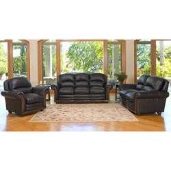 Kensington Italian Leather Sofa, Loveseat, and Chair Set