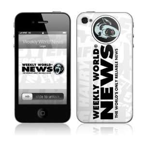 Music Skins MS WWN30133 iPhone 4  Weekly World News  Logo