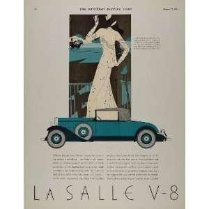 1931 Ad Cadillac LaSalle V 8 Convertible Coupe Art Deco