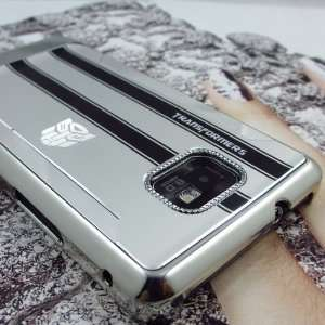 Luxury Transformers Aluminum Brushed Metal Back Hard Case