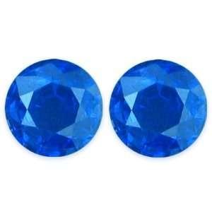 1.86 Carat Loose Blue Sapphires Round Cut Pair Jewelry