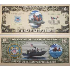 Set of 10 Bills US Coast Guard Million Dollar Bill Toys & Games