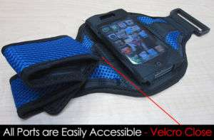 BLUE Running Sport ARMBAND Gym Holder for iPhone 4