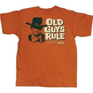 Old Guys Rule John Wayne The Code Texas Orange Tee Xl