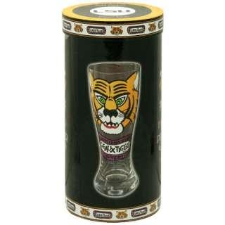 LSU Tigers 2pc Hand Painted 22oz Pilsner Beer Glass Set