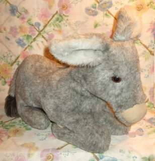 BIG 18 LONG COUNTRY CRITTERS PLUSH FULL BODY GRAY DONKEY PUPPET