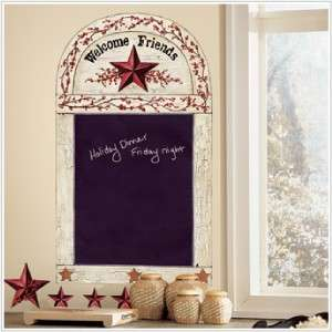 Country Stars & Berries Chalkboard Wall Stickers Decals 034878813912