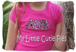 Custom Monogram Personalized Applique Rhinestone T shirt Tee Girls S M