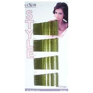Style 40 Count Crimp Bobby Pins in Brown (Model 5151BR) DISC Beauty