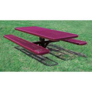 Expanded Metal Commercial Grade Picnic Table