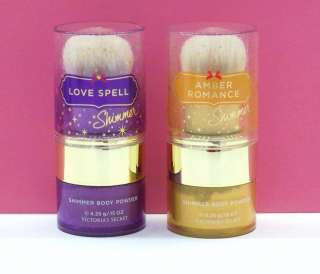 Victorias Secret Shimmer Body Powder: Love Spell, Amber Romance, Pure