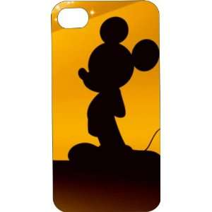 Black Hard Plastic Case Custom Designed Mickey Mouse iPhone Case for