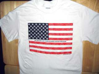 AND RESCUE DOGS T shirt American flag with rescue dog names