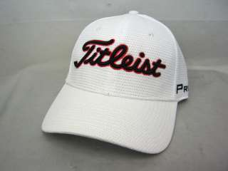 NEW 2012 TITLEIST LIMITED EDITION WHITE CUBIC MESH GOLF HAT MEDIUM