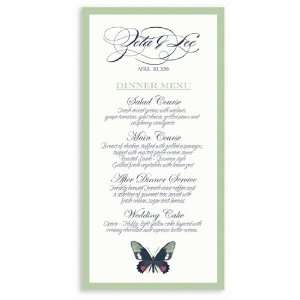 295 Wedding Menu Cards   Butterfly Moss Spice Dream Office Products