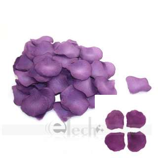 1200 PCS Dark Purple Silk Rose Petals Wedding Party Flowers