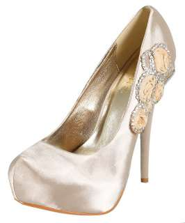 SATIN HIGH HEELS WEDDING/BRIDAL/EVENING DESIGNER WOMENS SHOES