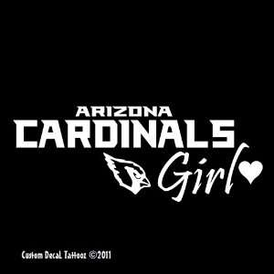 Arizona Cardinals Girl Car Window Decal Sticker White 8