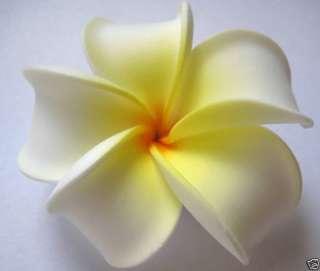 Hawaiian Hawaii Flower Bridal Wedding Party Hair Clip White Yellow
