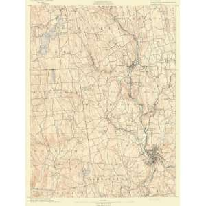 USGS TOPO MAP WATERBURY SHEET CONNECTICUT/CT 1892: Home & Kitchen