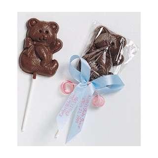Chocolate Teddy Bear LolliPop Favor
