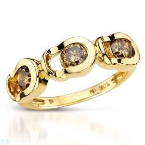 CleverEves 1.15.Ctw I1 I2 Color C3 C4 Diamonds Gold Ring