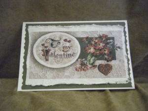 Handmade Greeting Card   Vintage To My Valentine