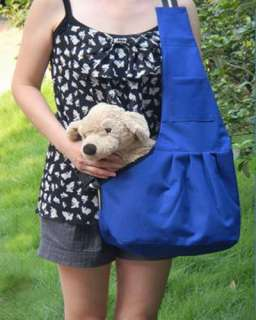 Blue Oxford Cloth Sling Pet Dog Carrier Bag 3 Size NEW