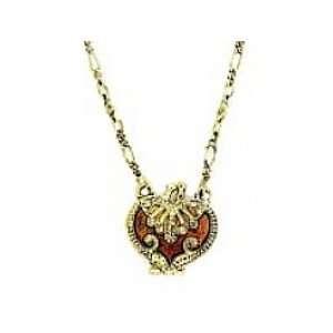 Vintage Heart Locket Necklace   Lt. Colorado Topaz Womens