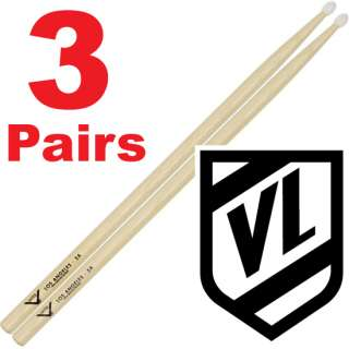 VATER Los Angeles 5A Nylon Tip Drum Sticks VH5AN   3 pairs