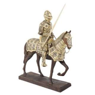 Medieval Armor Knight Horse Statue Sculpture Figurine Home & Kitchen