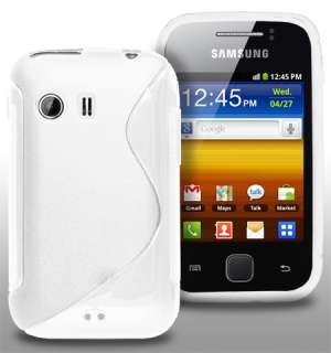 London Magic Store   White S Line Wave Gel Case For Samsung Galaxy Y