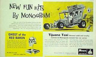 Monogram Famous Model Car Kit Tijuana Taxi~Red Baron Kids Toy Paper AD