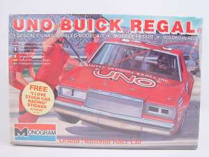 Monogram Uno Buick Regal 1 Stock Race Car Model Kit NIB