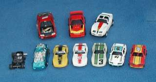 SLOT CARS CAR LOT CHEVY CAMARO CORVETTE 1/32 SCALE HO 9 Cars