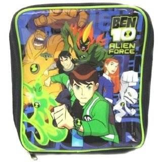 Childrens/Kids Boys Ben 10 Lunch Box/Bag (8 x 10 Inches) (Black/Blue)