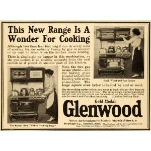 1917 Vintage Ad Glenwood Coal Wood Gas Range Weir Stove