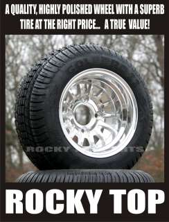 GOLF CART 205 50 10 LOW PROFILE TIRE AND ALUMINUM WHEEL FOR EZGO CLUB