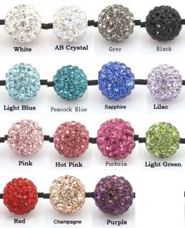 Pave Disco Clay CZ Crystal Ball Friendship Bracelets + Gift Box